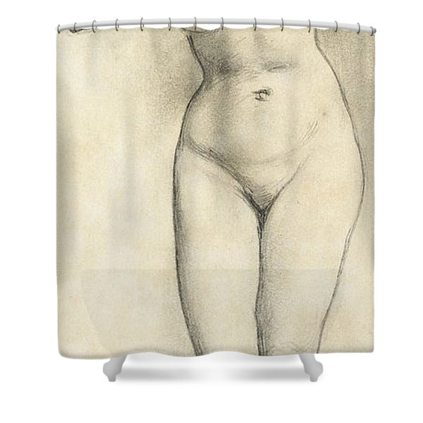 Standing Nude Shower Curtain