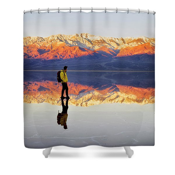 Standing On Water Shower Curtain