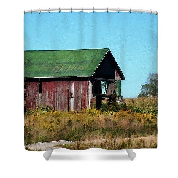 Standing Silent Shower Curtain
