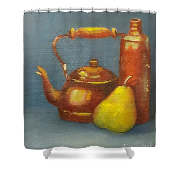 Shower Curtain featuring the painting Standing Tall by Genevieve Brown