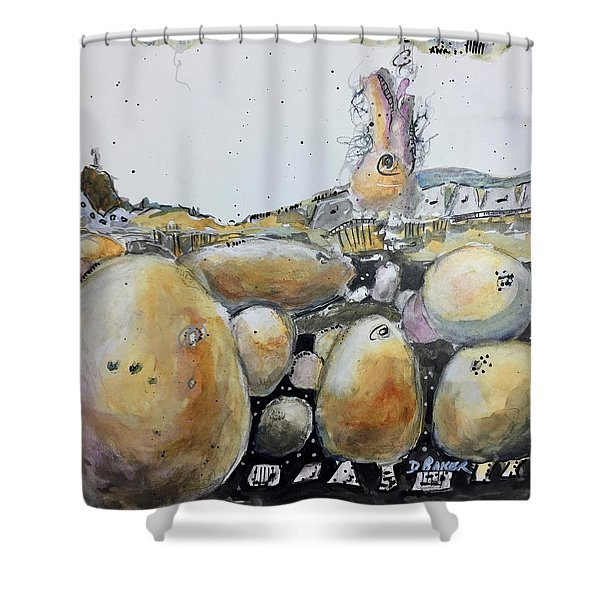 Standing Upon The Shoulders Of Giants Shower Curtain