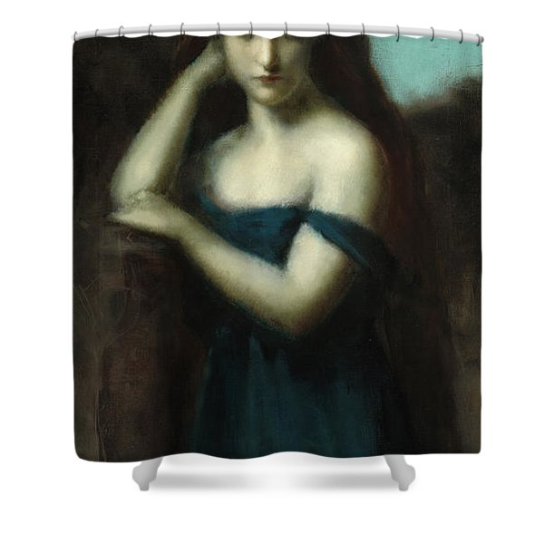 Standing Woman Shower Curtain