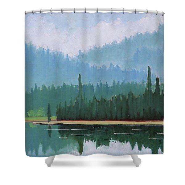 Stanley Lake - Far Shore Shower Curtain