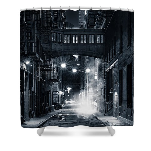 Staple Street Skybridge By Night Shower Curtain