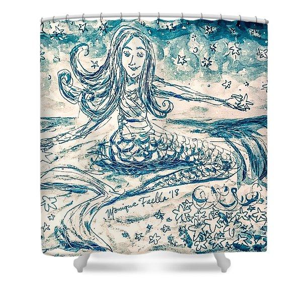 Star Bearer Mermaid Shower Curtain