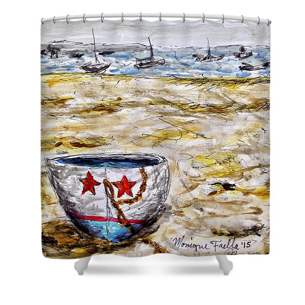 Star Boat Shower Curtain
