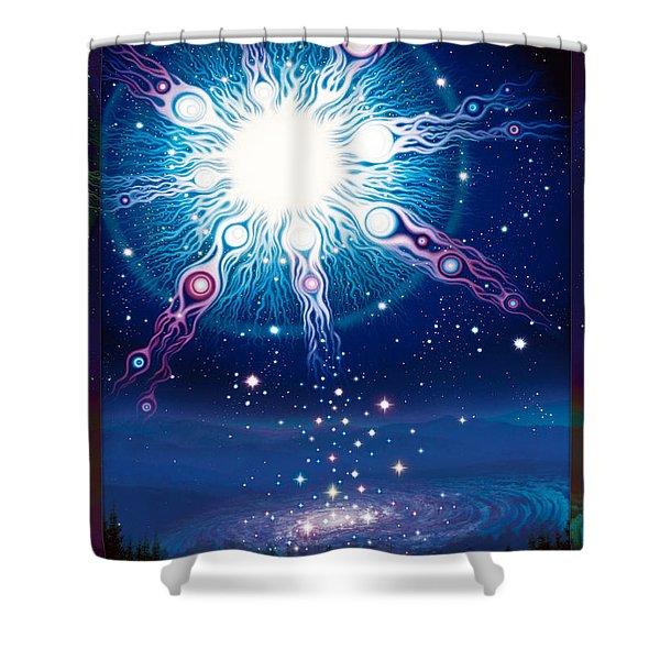 Star Matrix Shower Curtain