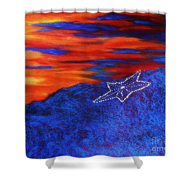 Star On The Mountain Shower Curtain