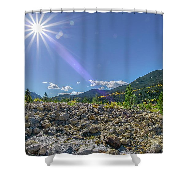 Star Over Creek Bed Rocky Mountain National Park Colorado Shower Curtain