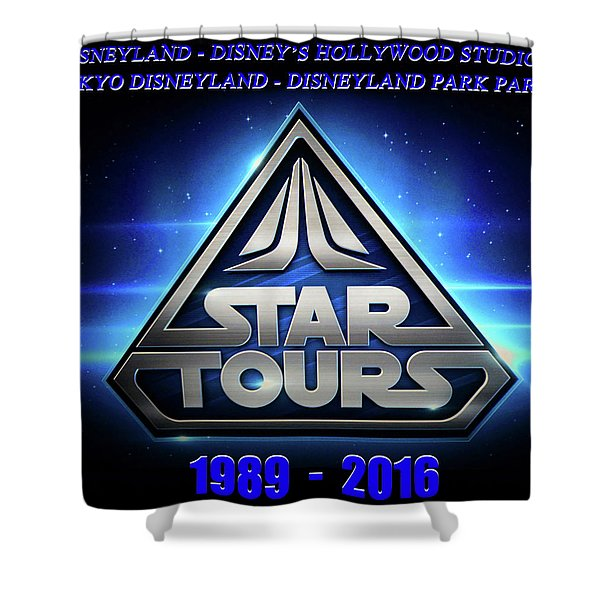 Star Tours Remembrance Shower Curtain