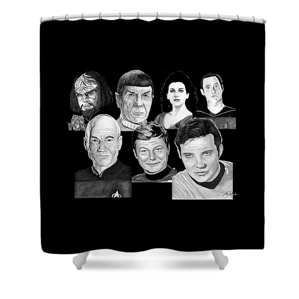 Star Trek Crew Shower Curtain