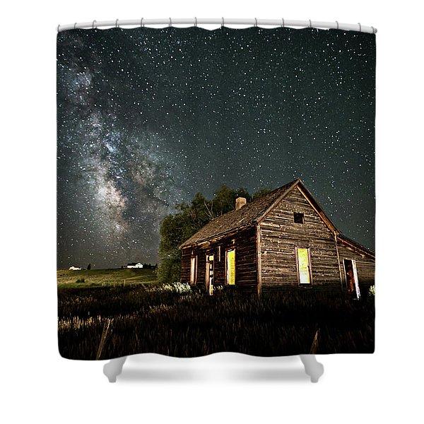 Star Valley Cabin Shower Curtain