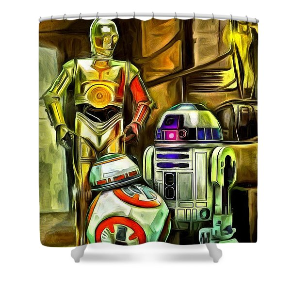 Star Wars Droid Family Shower Curtain