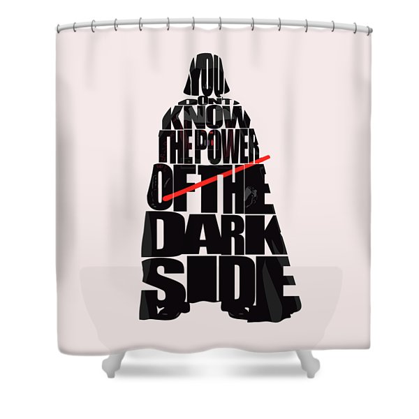 Star Wars Inspired Darth Vader Artwork Shower Curtain