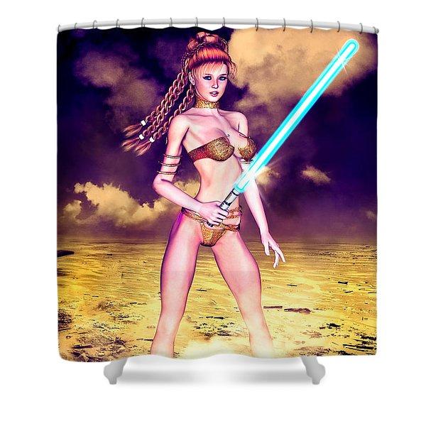 Star Wars Inspired Fantasy Pin-up Girl Shower Curtain