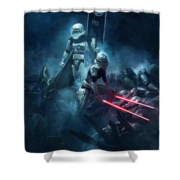 Star Wars Vs Aliens 4 Shower Curtain