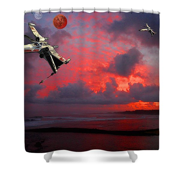 Star Wars X-wing Fighter Shower Curtain