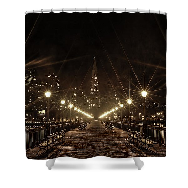 Starburst Lights Shower Curtain