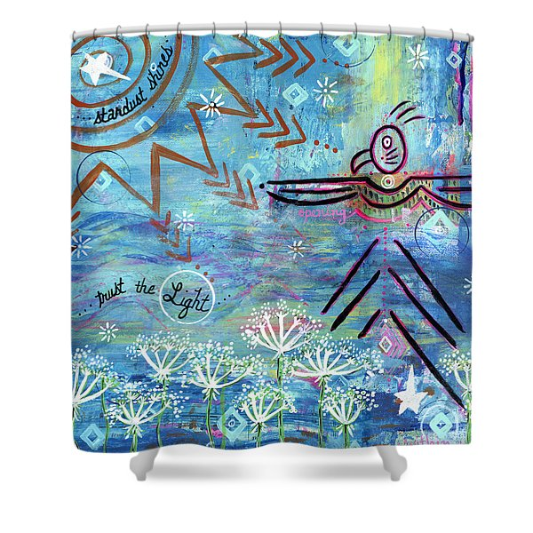 Stardust Shines Shower Curtain