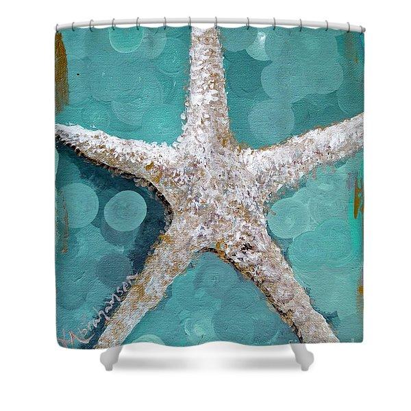 Starfish Goldie Shower Curtain