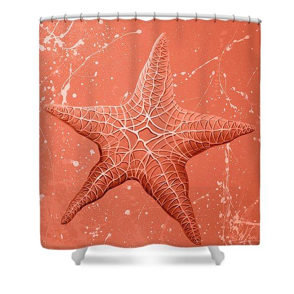 Starfish In Pink Shower Curtain
