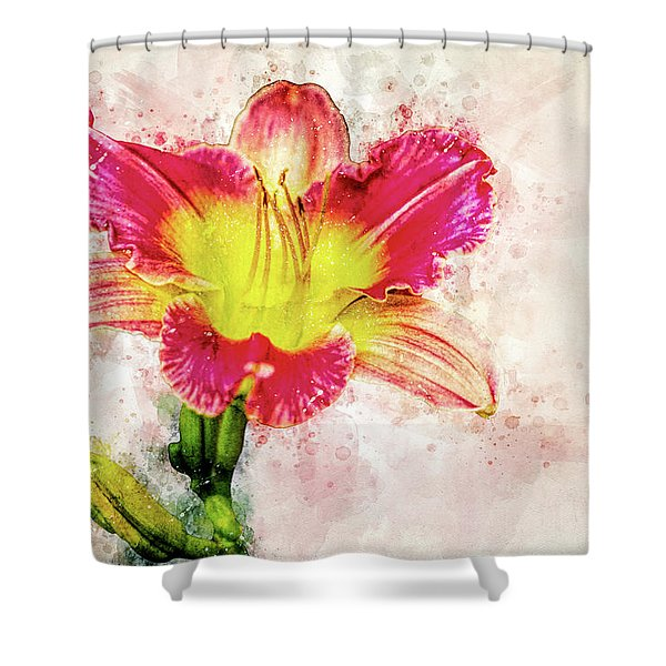 Stargazer Lily Shower Curtain