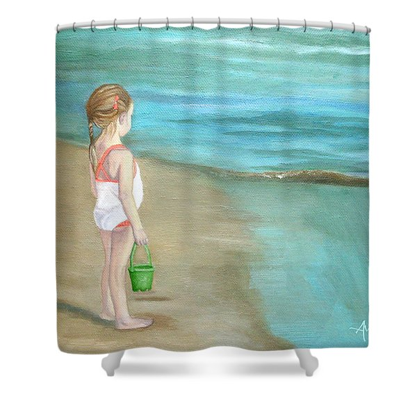 Staring At The Sea Shower Curtain