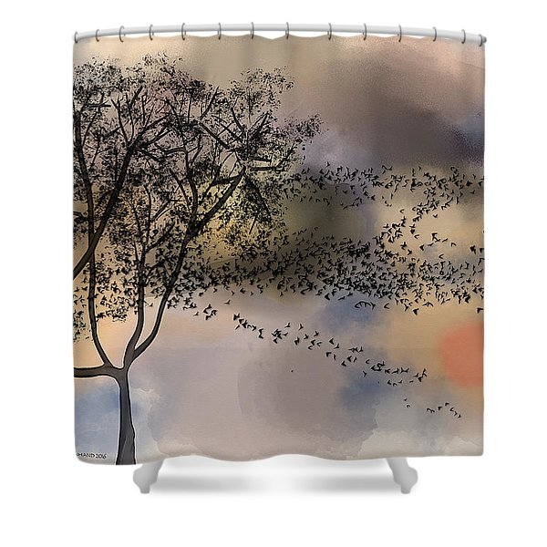 Starlings At Dusk Shower Curtain