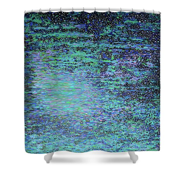Starlit Lagoon Shower Curtain