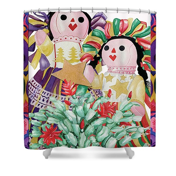 Starring The Christmas Cactus Shower Curtain
