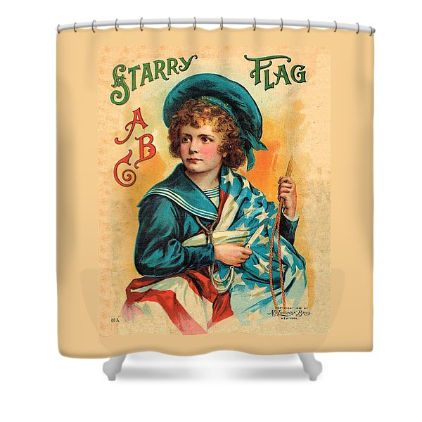 Starry Flag Cover Abc Book Shower Curtain