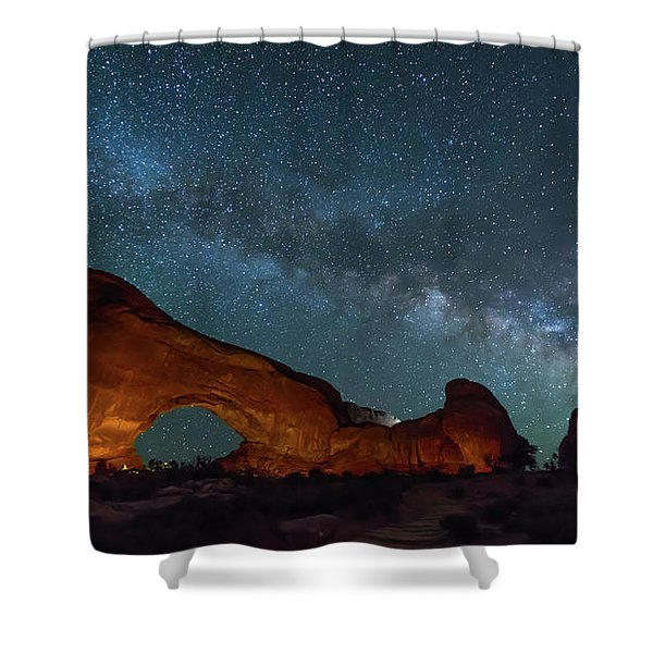 Starry Night At North Window Rock Shower Curtain