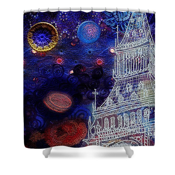 Starry Night In London Shower Curtain