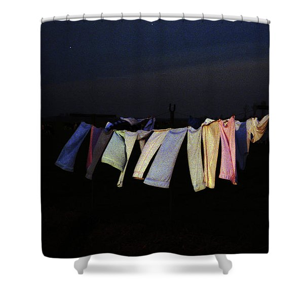 Starry Night In Van Goghs Homeland Shower Curtain