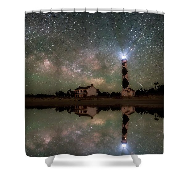Starry Reflections Shower Curtain