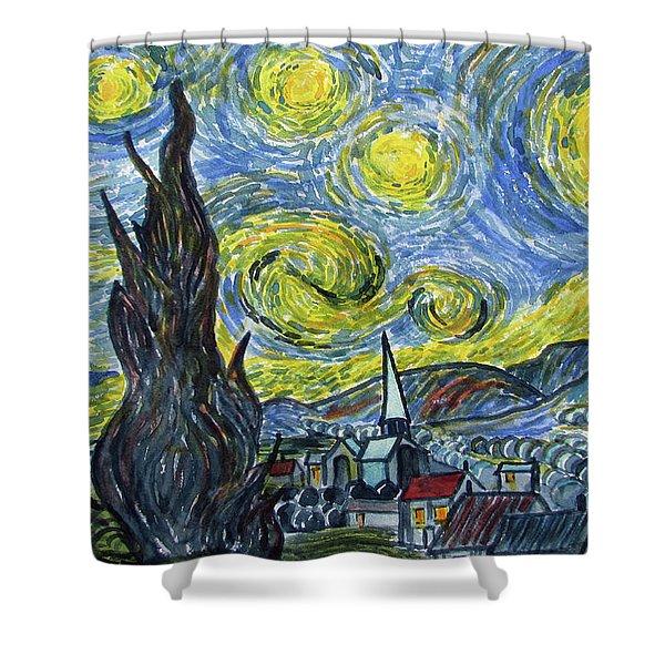 Starry, Starry Night Shower Curtain