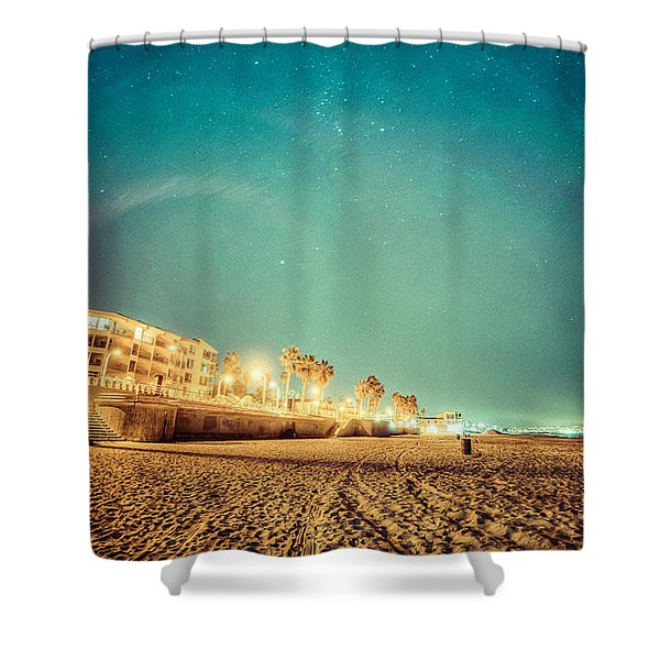 Starry Starry Pacific Beach Shower Curtain