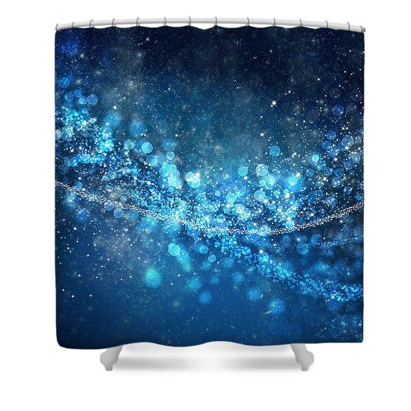 Stars And Bokeh Shower Curtain