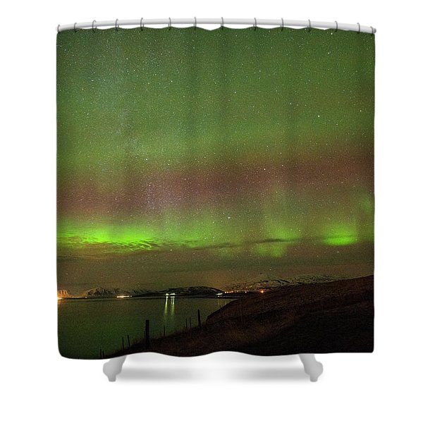Stars And Northern Lights Shower Curtain