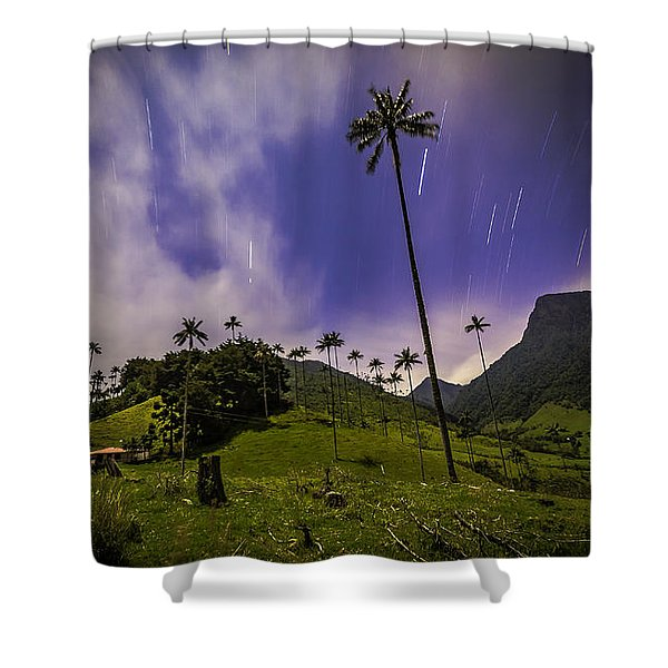 Stars In The Valley Shower Curtain