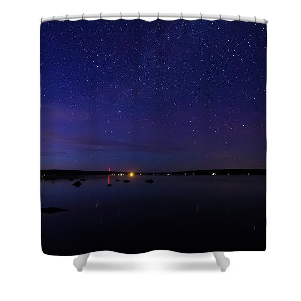 Stars Over Branch Lake Shower Curtain