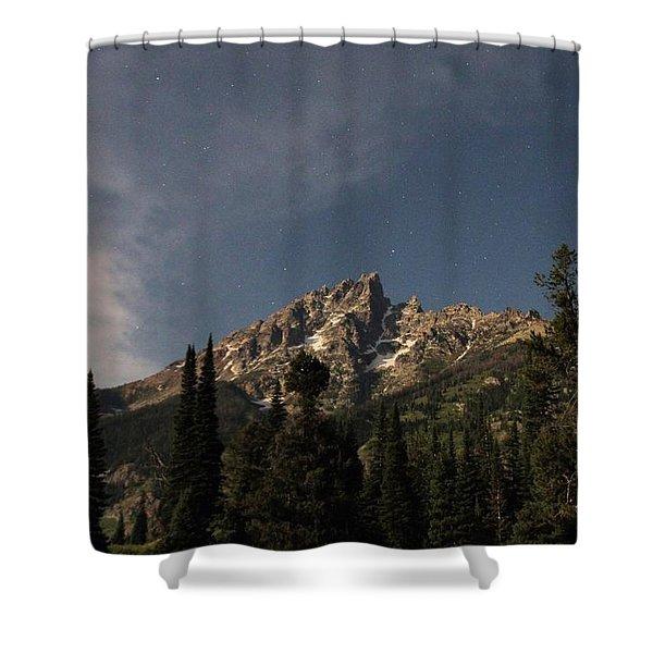Stars Over Grand Teton Shower Curtain