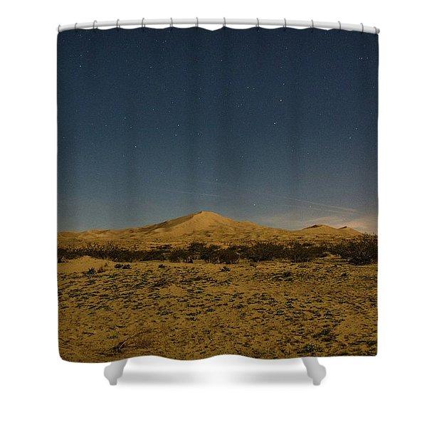 Stars Over Kelso Dunes Shower Curtain