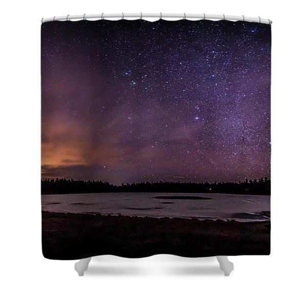 Stars Over Lake Eaton Shower Curtain