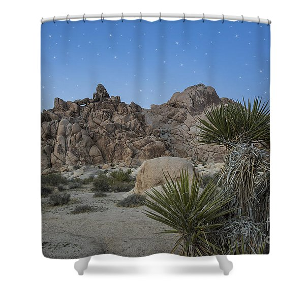 Stars Shining Over Indian Cove Shower Curtain