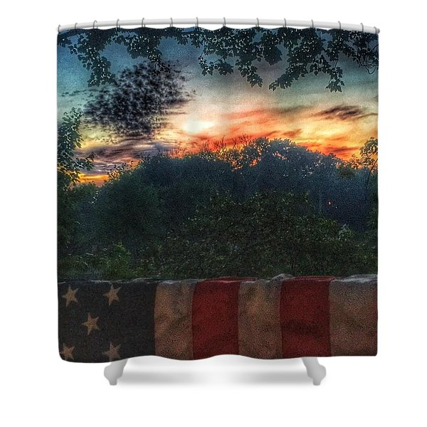 Stars Stripes And Skies Forever Shower Curtain