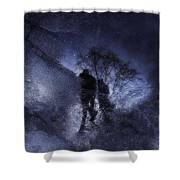 Stars Walking Shower Curtain