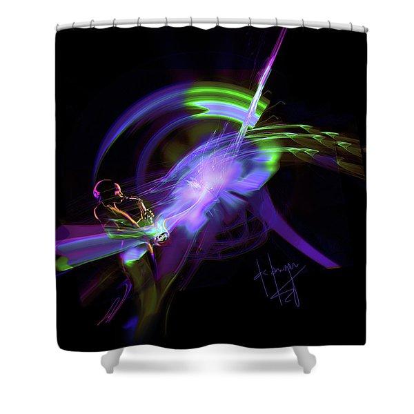 Starship Saxophone Shower Curtain