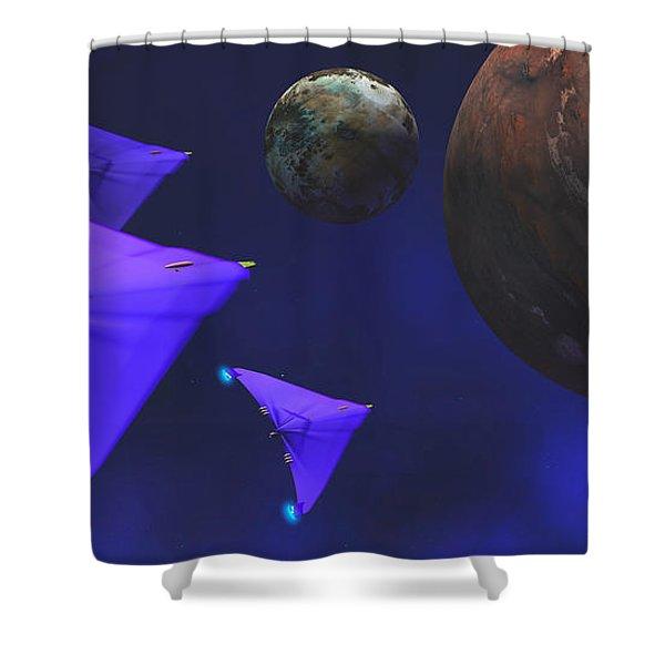 Starship Travel Shower Curtain