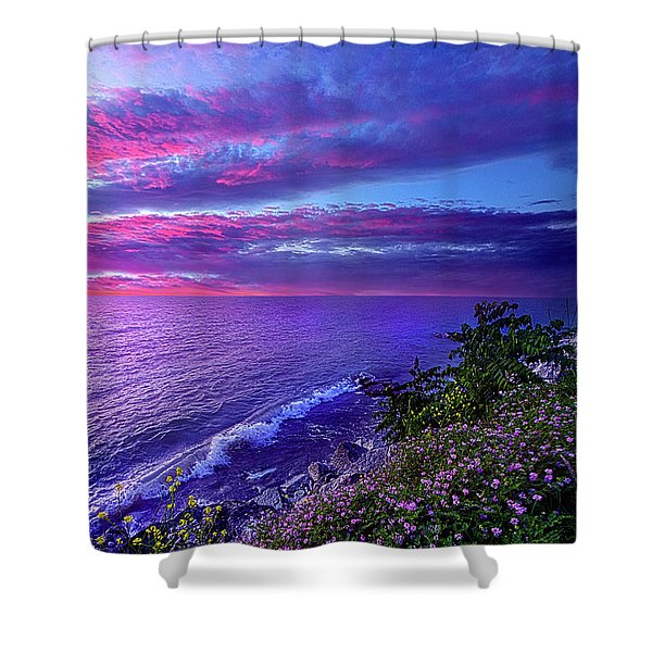 Start Again At Your Beginnings Shower Curtain